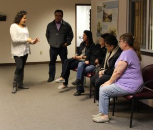 TMBCI's Diabetes Director with Turtle Mountain School Staff