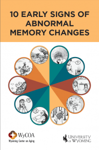 University of Wyoming Booklet on 10 Signs of Memory Changes