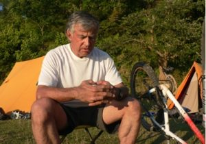 Dave on Nepal bike trip
